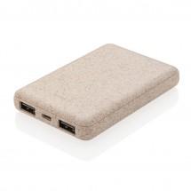 Weizenstroh 5.000 mAh Pocket Powerbank - braun