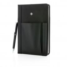 Notizbuch und Stift - schwarz