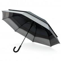 """Swiss Peak 23"""" zu 27"""" erweiterbarer Regenschirm, schwarz"""