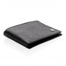RFID Anti-Skimming Portemonnaie - schwarz/schwarz