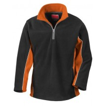 Tech3? Sport Fleece Top - Black/Orange