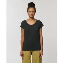 Damen T-Shirt Stella Rounder Slub black XS
