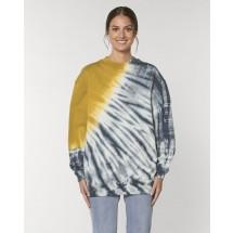 Unisex Sweatshirt Firer Tie and Dye tie&dye india ink grey/ochre XS