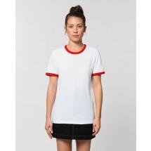 Unisex T-Shirt Ringer white/bright red XXS
