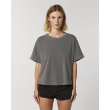 Damen T-Shirt Stella Collider Vintage  g. dyed mid anthracite XXL