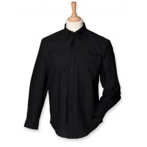 Classic Long Sleeved Oxford Shirt - Black