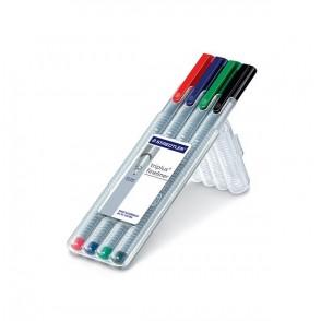 STAEDTLER Box mit 4 triplus fineliner