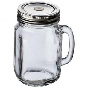 Glaskrug mit Metalldeckel 450ml