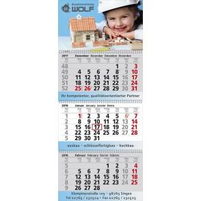 Mehrblock-Wandkalender Exclusiv 3