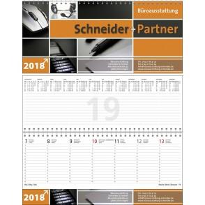 Tischquerkalender Business-Premium