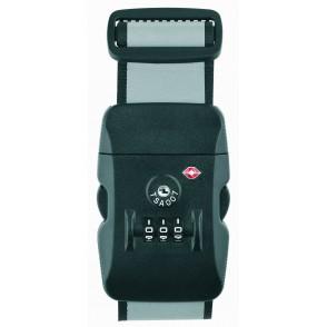 thanxx® Koffergurt TSATravel silber/schwarz