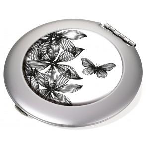 Taschenspiegel Spiegel und Vergrößerungsspiegel BLACK FLOWERS