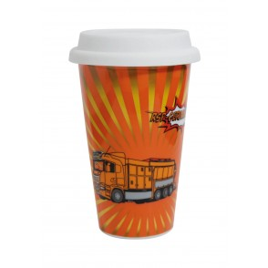 Porzellanbecher Coffee2Go, doppelwandig