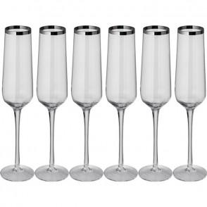 Set aus 6 Champagnergläsern
