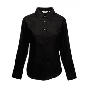 Lady-Fit Long Sleeve Oxford Blouse