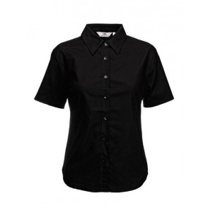 Lady-Fit Short Sleeve Oxford Blouse