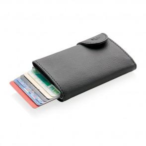 C-Secure RFID Kartenhalter und Portemonnaie, braun
