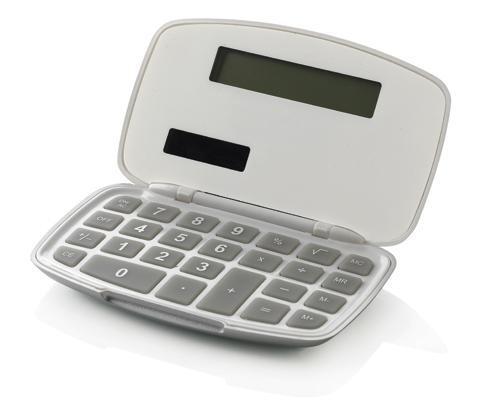 Weißer Taschenrechner zum Aufklappen
