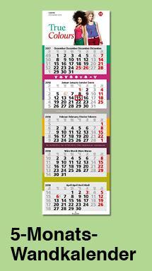 5-Monats-Wandkalender mit Firmenlogo