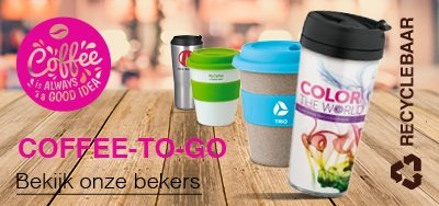 Coffee-to-go beker bedrukken