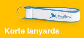 Korte lanyards met logo