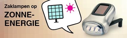 Solar-zaklampen (zonne-energie)